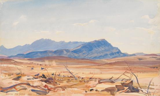 The Arkabas, Flinders Ranges, 1933 - Hans Heysen