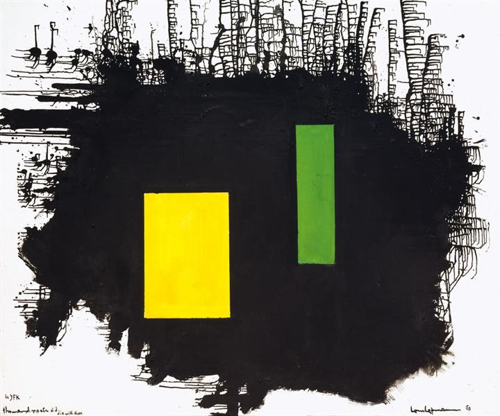 To J.F.K. - A Thousand Roots Did Die With Thee, 1963 - Hans Hofmann