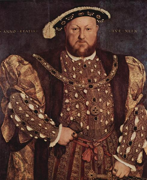 Portrait of Henry VIII, 1540 - Hans Holbein the Younger
