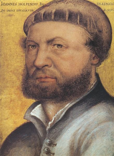 Self Portrait, 1542 - Hans Holbein the Younger