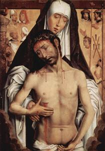 The Man of Sorrows in the Arms of the Virgin - Hans Memling
