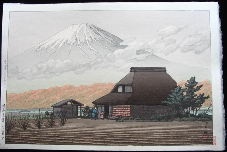 Mount Fuji from Narusawa in Autumn, 1936 - Hasui Kawase