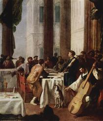 Hochzeit zu Kana - Johann Heinrich Schönfeld