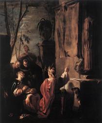 Scythians at the Tomb of Ovid - Johann Heinrich Schönfeld