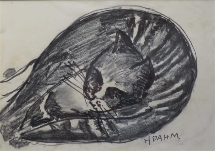Liegende Katze - Helen Dahm