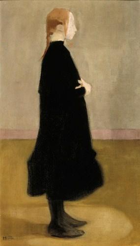 School Girl in Black, 1908 - Helene Schjerfbeck