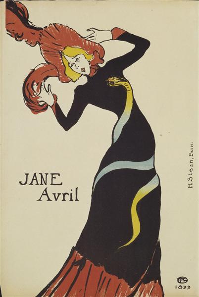 Jane Avril, 1899 - Henri de Toulouse-Lautrec