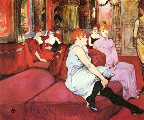 The Salon de la Rue des Moulins - Henri de Toulouse-Lautrec