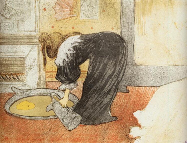 They Woman with a Tub, 1896 - Henri de Toulouse-Lautrec