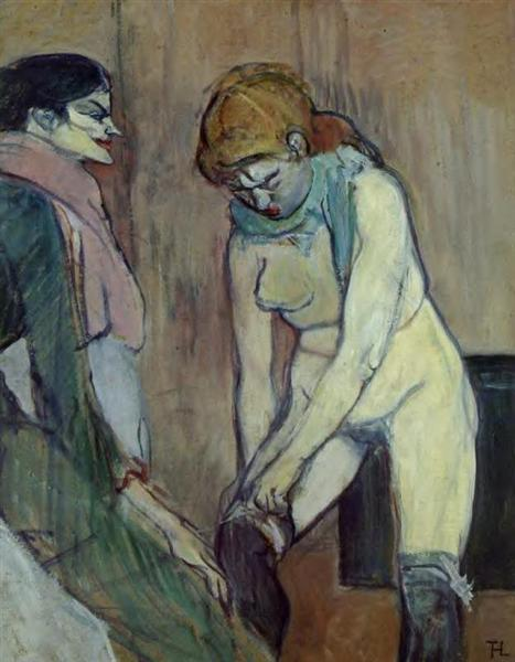 Woman Pulling up Her Stockings, 1894 - Henri de Toulouse-Lautrec