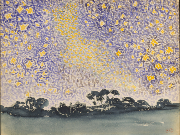Landscape with Stars, 1905 - 1908 - Henri-Edmond Cross