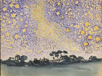Landscape with Stars - Henri-Edmond Cross