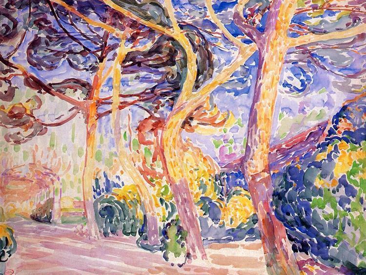Under the Pines, c.1906 - c.1907 - Henri-Edmond Cross