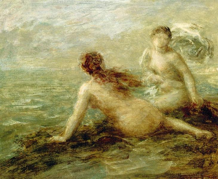 Bathers by the Sea - Анрі Фантен-Латур
