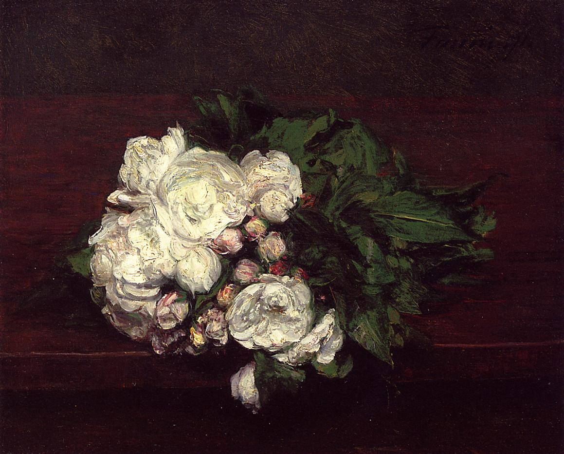 flowers white roses henri fantin latour encyclopedia of visual arts. Black Bedroom Furniture Sets. Home Design Ideas
