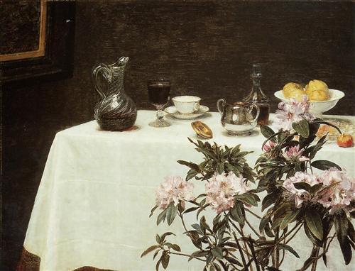 Still Life, Corner of a Table - Henri Fantin-Latour