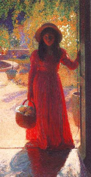 Gabrielle at the Gate - Henri Martin