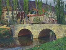The Bridge at Labastide du Vert - Henri Martin