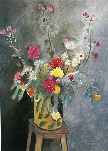 Bouquet of mixed flowers, 1916 - 1917 - Henri Matisse