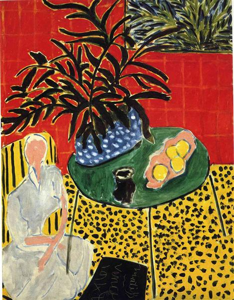 Interior with Black Fern, 1948 - Henri Matisse