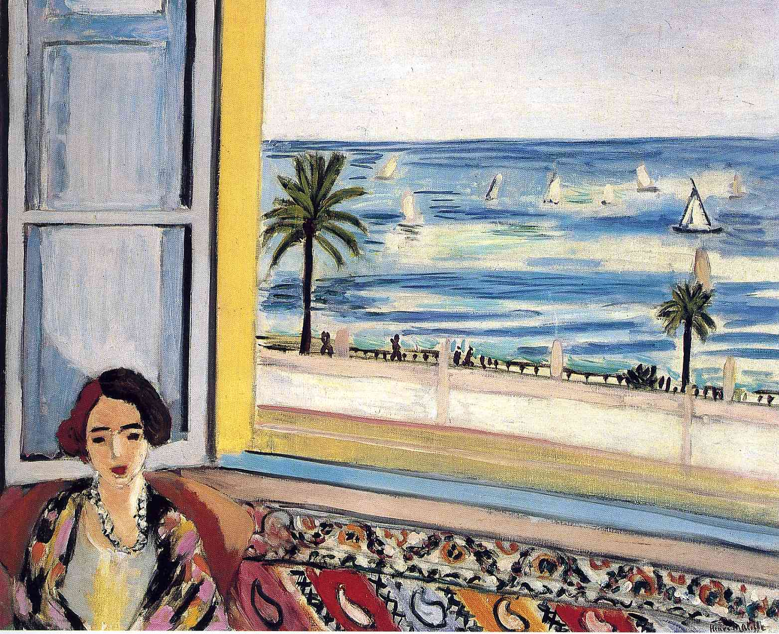 Seated Woman Back Turned To The Open Window 1922 Henri Matisse Wikiart Org