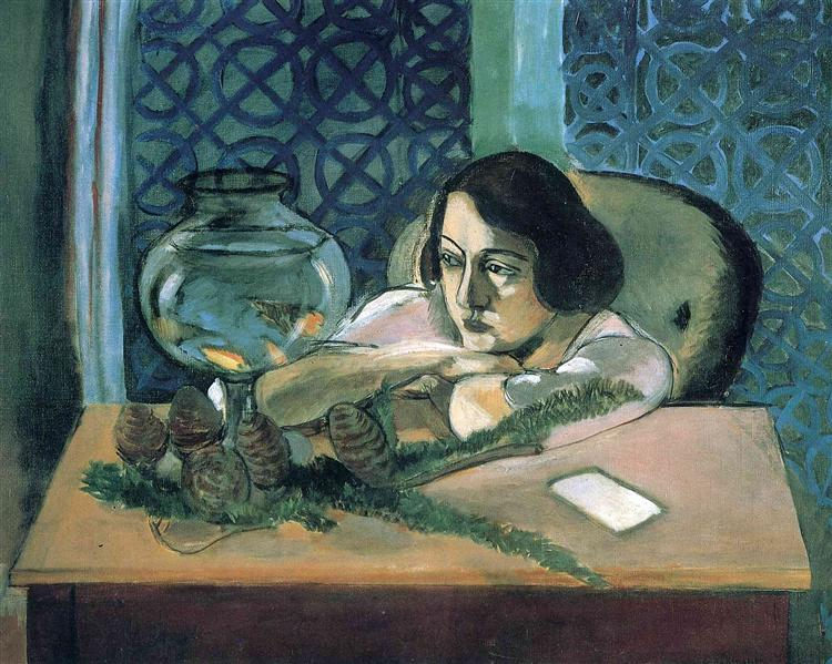 Woman Before a Fish Bowl, 1922 - Анри Матисс