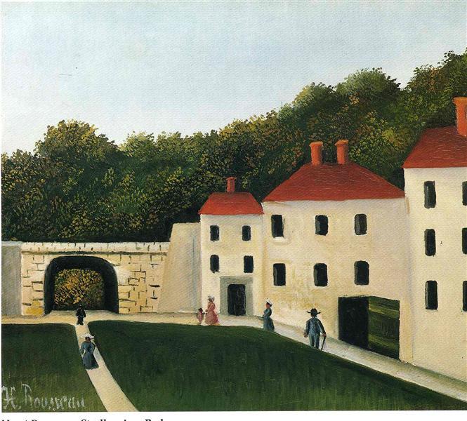 Promeneurs dans un Parc, 1908 - Henri Rousseau