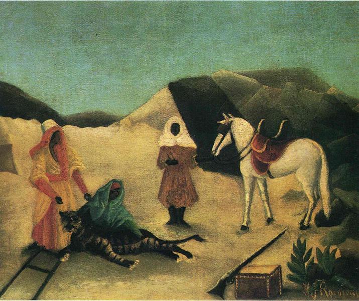 The Tiger Hunt, 1895 - 1896 - Henri Rousseau