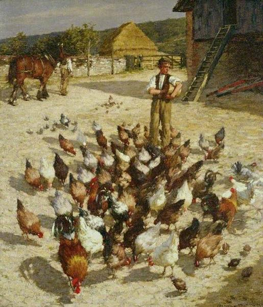 A Sussex Farm, 1904 - Henry Herbert La Thangue