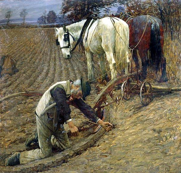 The Last Furro, 1895 - Henry Herbert La Thangue