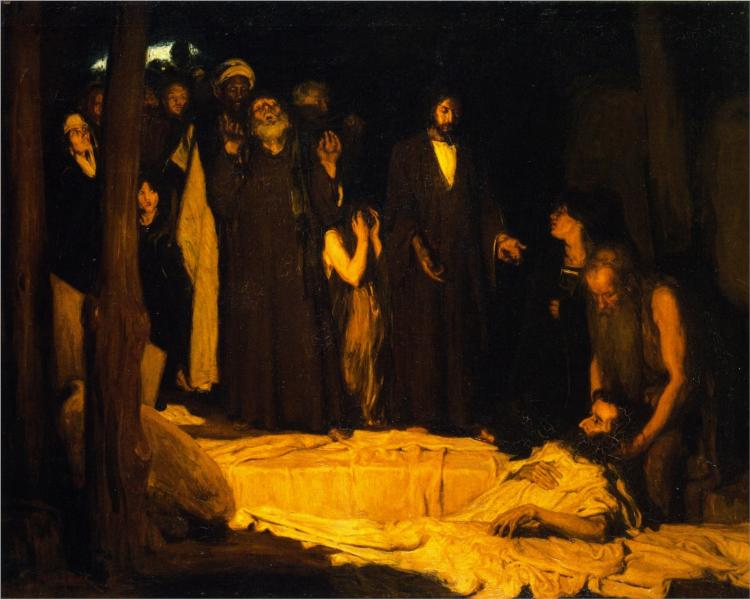 The Resurrection of Lazarus, 1896 - Генри Оссава Таннер