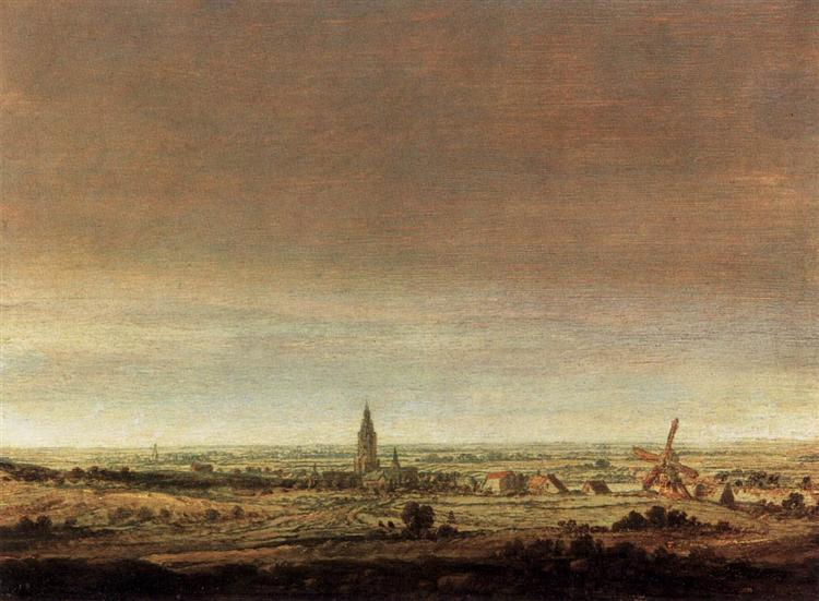 Landscape with City on a River, 1627 - 1629 - Hercules Seghers