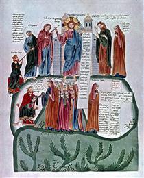 Commentary of Hoheburg (folio 322v) - Herrad of Landsberg