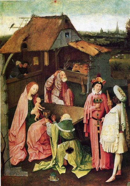 Adoration of the Magi, c.1500 - Hieronymus Bosch