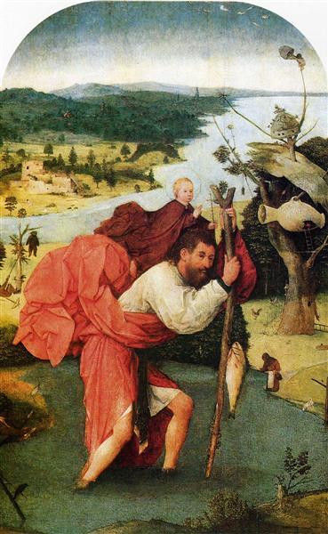 Saint Christopher, 1500 - Hieronymus Bosch