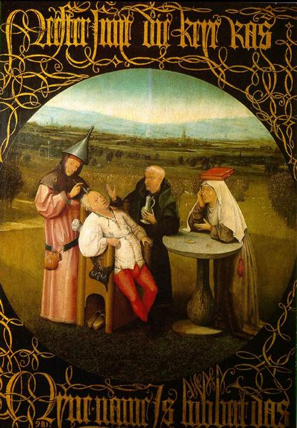 The Stone Operation / The Extraction of the Stone Madness / The Cure of Folly, c.1494 - c.1516 - Hieronymus Bosch