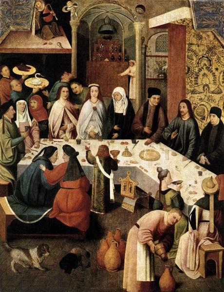 The Marriage Feast at Cana, 1500 - Hieronymus Bosch