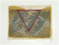 'Koh Chang & triangle' - lithography printing art,1998; graphic artist Hilly van Eerten - Hilly van Eerten