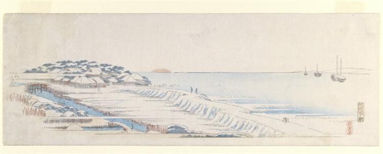 Snow Dawn at Susaki, 1836 - 1843 - Hiroshige