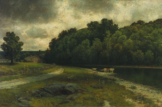 On the Grand River at Doon, 1880 - Homer Watson