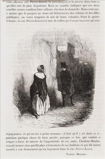 Rue Pierre Lescot, The Streets of Paris under Louis Lurin, 1844 - Honore Daumier