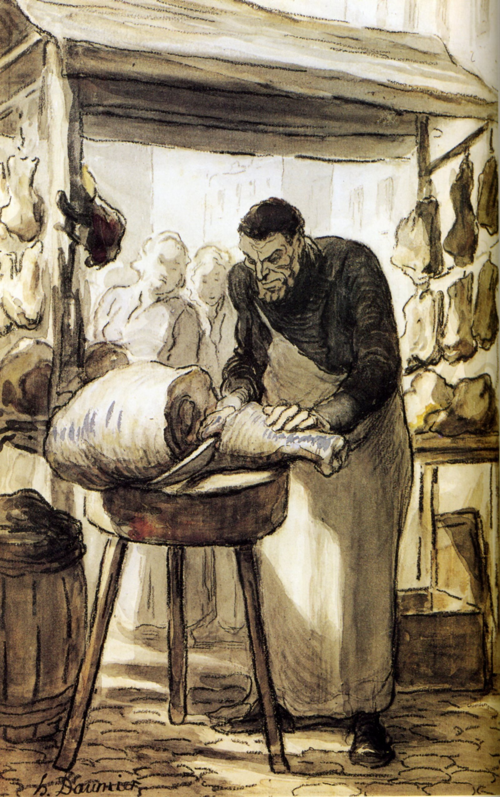 The Butcher - Honore Daumier - WikiArt.org