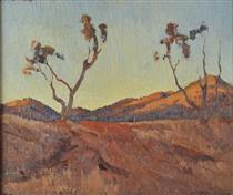 Evening light, Flinders Ranges, SA - Horace Trenerry