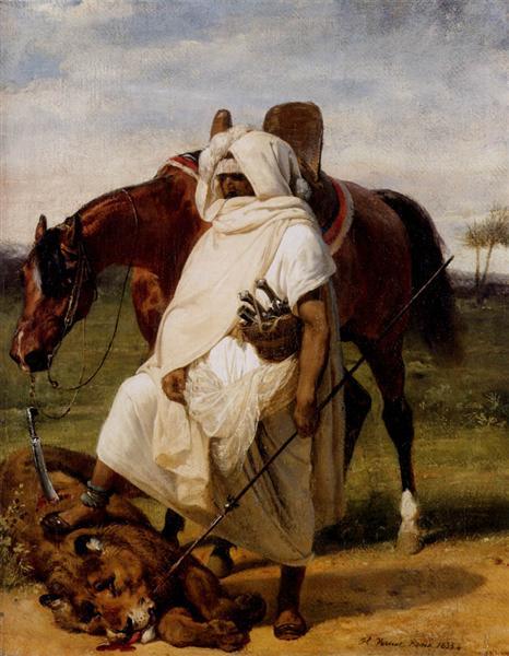 The Lion Hunter, 1833 - Horace Vernet