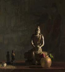 Still Life. Life golden sunset - Hovsep Pushman