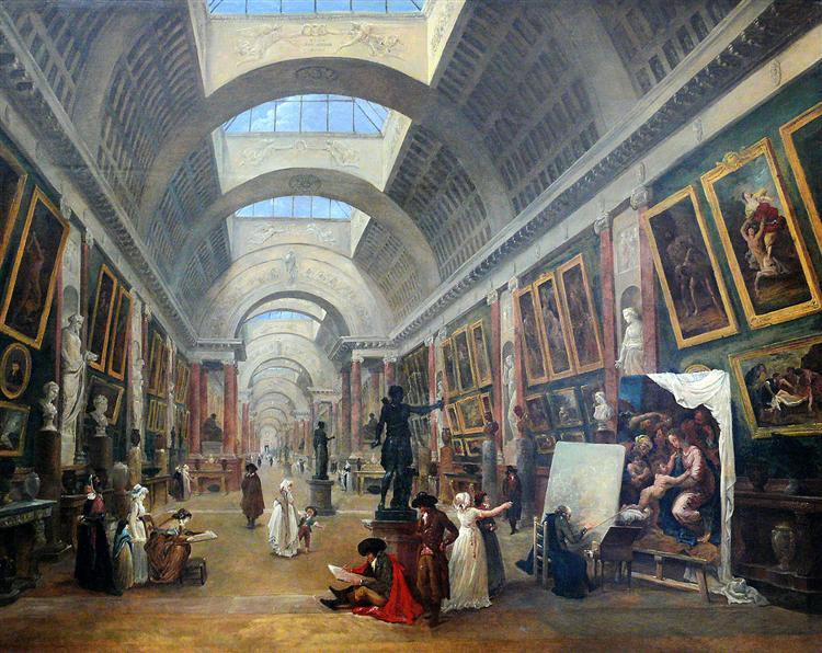 Projet d'aménagement de la Grande Galerie du Louvre, 1796 - Hubert Robert