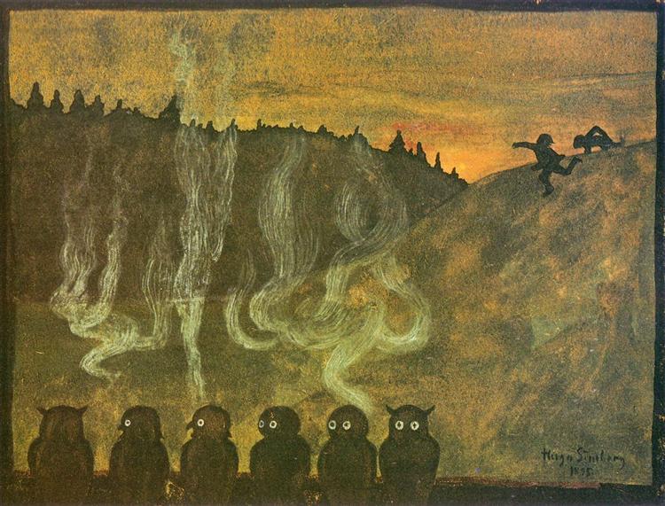 Waiting for Dawn, 1895 - Hugo Simberg
