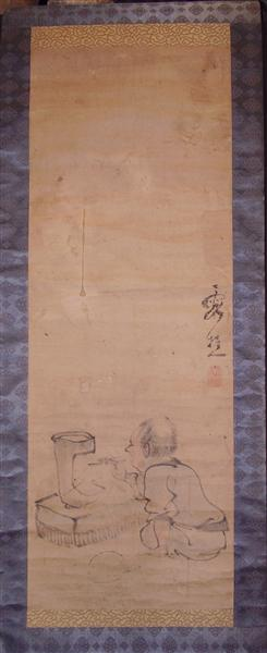 Lighting a charcoal brazier (possibly in preparation for a tea ceremony?), 1776 - Ike no Taiga