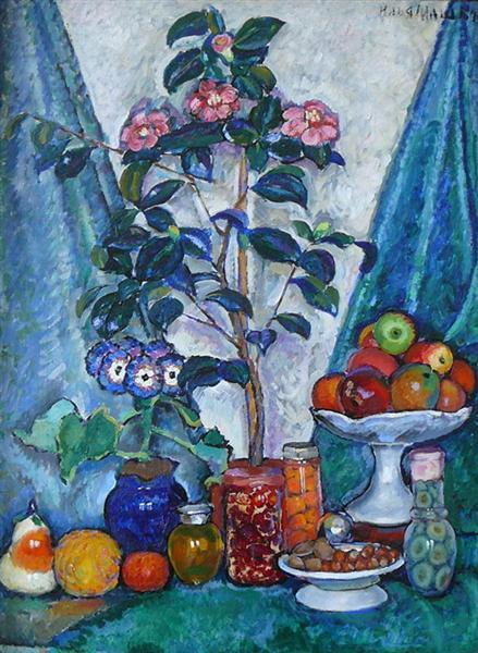 Still Life with Camellias, 1914 - 1915 - Ilya Mashkov