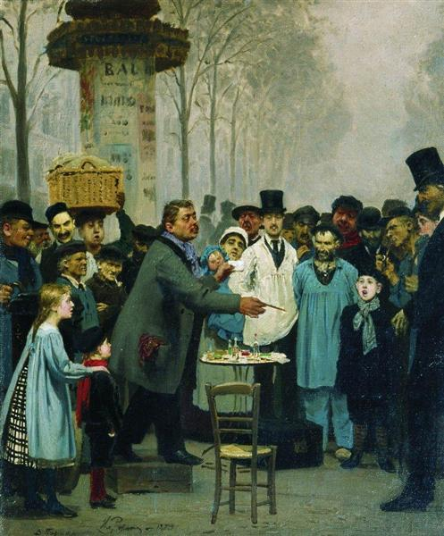 A Newspaper Seller in Paris, 1873 - Ilya Repin